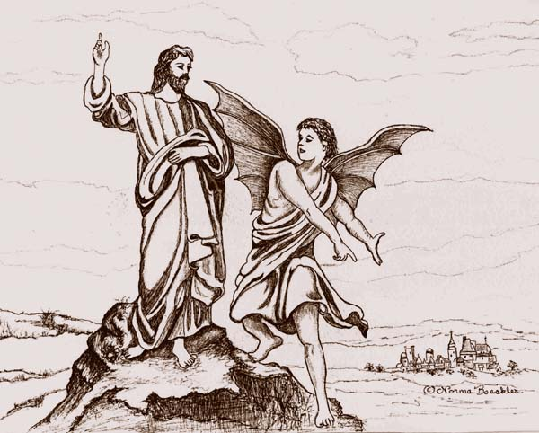 Free Coloring Pages Of Jesus Tempted By Satan