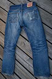 Blue jeans by Levi Strauss