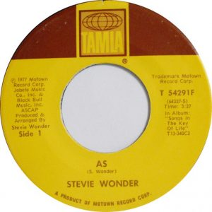 As Stevie Wonder